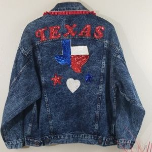 Vintage Levis Upcycled Acid Denim Texas Jacket